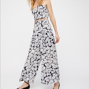 Free People Outside The Lines Set Crop Top Pants L